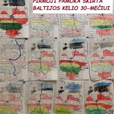 Pirmoji naujų mokslo metų pamoka skirta Baltijos kelio 30-mečiui paminėti
